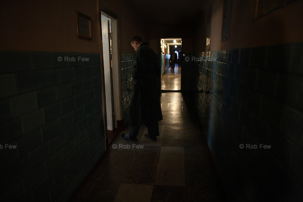 As well as education, the prison offers decent healthcare. Here a boy walks to be examined by medical staff.<br /> <br /> These are the boys of Berezhany - prisoners in one of Ukraine's 10 juvenile detention centres. This a model facility where children are kept separately from adults and where their health and educational needs are taken care of. For the majority of Ukraine's prisoners, however, including most of the children who are not kept here, conditions are far worse.