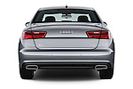 Straight rear view of 2016 Audi A6 - 4 Door Sedan Rear View  stock images