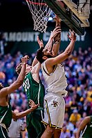 12 March 2019: University of Vermont Catamount Forward Anthony Lamb, a Junior from Toronto, Ontario, in action against the Binghamton University Bearcats at Patrick Gymnasium in Burlington, Vermont. Lamb finished the game with 18 points and a career-high seven assists as the top-seeded Catamounts advanced to their fourth-straight AE conference championship game, defeating the Bearcats 84-51. Mandatory Credit: Ed Wolfstein Photo *** RAW (NEF) Image File Available ***12 March 2019: University of Vermont Catamount Forward Anthony Lamb, a Junior from Toronto, Ontario, in action against the Binghamton University Bearcats at Patrick Gymnasium in Burlington, Vermont. Lamb finished the game with 18 points and a career-high seven assists as the top-seeded Catamounts advanced to their fourth-straight America East conference championship game, defeating the Bearcats 84-51. Mandatory Credit: Ed Wolfstein Photo *** RAW (NEF) Image File Available ***