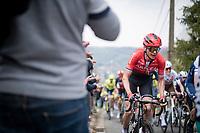 Warren Barguil (FRA/Arkéa Samsic) up the steep Côte de Gives<br /> <br /> 85th La Flèche Wallonne 2021 (1.UWT)<br /> 1 day race from Charleroi to the Mur de Huy (BEL): 194km<br /> <br /> ©kramon