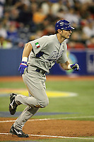 March 7, 2009:  Outfielder Mario Chiarini (45) of Italy during the first round of the World Baseball Classic at the Rogers Centre in Toronto, Ontario, Canada.  Venezuela defeated Italy 7-0 in both teams opening game of the tournament.  Photo by:  Mike Janes/Four Seam Images