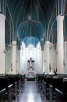 Interior, Catholic Church on Gulangyu Island, a former Foreign Concession port opposite to Xiamen City, China.  .\