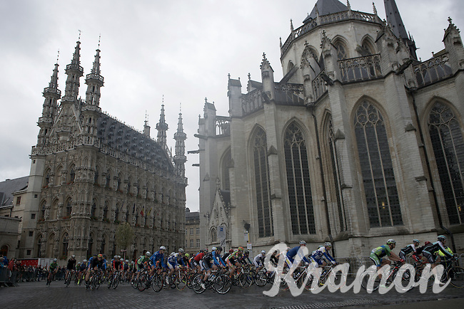 race start in front of the Leuven city hall (& St-Peters church)<br /> <br /> 50th GP Jef Scherens 2016