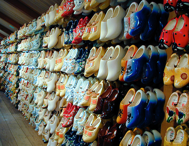 Klompen (wood shoe) factory, Volendam, NL