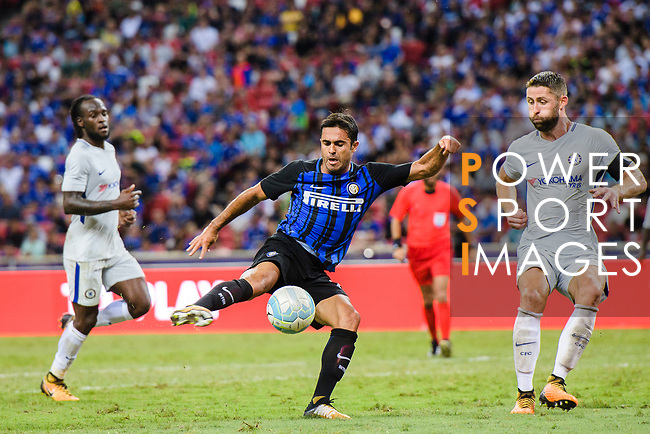 FC Internazionale Forward Eder Citadin Martins (C) during the International Champions Cup 2017 match between FC Internazionale and Chelsea FC on July 29, 2017 in Singapore. Photo by Marcio Rodrigo Machado / Power Sport Images