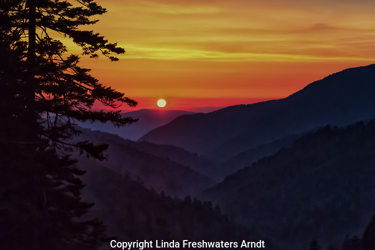 Sunset in the Smoky Mountains