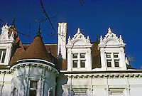 St. Louis: West End, Kingsbury Place. Detail of Chateau mansion. Photo '78.