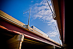 Highway overpass: converging lines make an interesting abstract photo