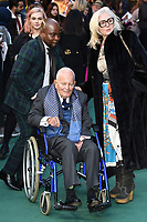 """Sir Ian Holm<br /> arriving for the """"TOLKIEN"""" premiere at the Curzon Mayfair, London<br /> <br /> ©Ash Knotek  D3499  29/04/2019"""