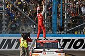 Monster Energy NASCAR Cup Series<br /> Can-Am 500<br /> Phoenix Raceway, Avondale, AZ USA<br /> Sunday 12 November 2017<br /> Matt Kenseth, Joe Gibbs Racing, Circle K Toyota Camry celebrates his win<br /> World Copyright: Nigel Kinrade<br /> LAT Images