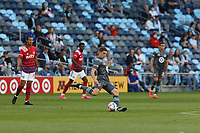 SAINT PAUL, MN - MAY 15: Wil Trapp #20 of Minnesota United FC kicks the ball during a game between FC Dallas and Minnesota United FC at Allianz Field on May 15, 2021 in Saint Paul, Minnesota.