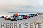 An almost full car park in Banna Beach on Sunday evening at 6.30pm