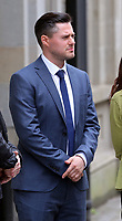 Pictured: Paul Hicks, witness to the hearing outside ury's Inn hotel in Cardiff, Wales, UK. Thursday 08 June 2017<br /> Re: Fitness to Practice Committee hearing at Jury's Inn hotel in Cardiff, in relation to teacher David Rickard who is accused of having sex with a pupil while working at Cynffig Comprehensive School in the Pyle area of Bridgend, Wales, UK.