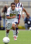 Mexico (26.02.2006) UNAM Pumas midfielder Fernando Morales in action during the soccer match with Monterrey Rayados at the Mexico City's University Stadium, February 26, 2006. UNAM tied 0-0 to Monterrey. © Photo by Javier Rodriguez