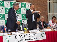 11-sept.-2013,Netherlands, Groningen,  Martini Plaza, Tennis, DavisCup Netherlands-Austria, Draw,   <br /> Photo: Henk Koster
