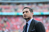 19th May 2018, Wembley Stadium, London, England; FA Cup Final football, Chelsea versus Manchester United; Former Chelsea midfielder and pundit Frank Lampard looks on