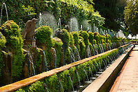 The Hundred Fountains, 1569, Villa d'Este gardens, Tivoli, Italy - Unesco World Heritage Site.