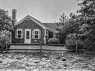 July 19th 1969, Chappaquiddick, Edgartown, Martha's Vineyard, Massachusetts<br /> The outside of the Lawrence Cottage, which was the summer house on Chappaquiddick Island where Senator Edward Ted Kennedy spent the night after he drove a car off a bridge and his aide Mary Jo Kopechne was killed.
