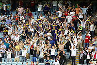 Thursday 08 August 2013<br /> Pictured: Swansea supporters<br /> Re: Malmo FF v Swansea City FC, UEFA Europa League 3rd Qualifying Round, Second Leg, at the Swedbank Stadium, Malmo, Sweden.