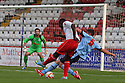 Oumare Tounkara of Stevenage shoots<br />   Stevenage v QPR XI - Pre-season friendly - Lamex Stadium, Stevenage - 16th July, 2013<br />  © Kevin Coleman 2013<br />  <br /> <br />  <br />  <br /> <br />  <br />  © Kevin Coleman 2013
