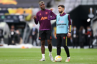 25th May 2021; Gdansk, Poland; Manchester United training at the Stadion Energa Gdańsk prior to their Europa League final versus Villarreal on May 26th;  PAUL POGBA BRUNO FERNANDES