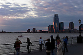 New York, New York<br /> October 16, 2011<br /> <br /> View from lower Manhattan, of Newark, New Jersey at dusk from Robert F. Wagner, Jr. Park.
