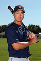 Connecticut Tigers outfielder Chao-Ting Tang (24) before a double header vs. the Batavia Muckdogs at Dwyer Stadium in Batavia, New York July 10, 2010.  Connecticut dropped the first game 3-5 then defeated Batavia 8-1 in the night cap.  Photo By Mike Janes/Four Seam Images
