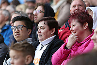 Swansea supporters during the Premier League match between Swansea City and Everton at The Liberty Stadium, Swansea, Wales, UK. Saturday 14 April 2018