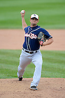 New Hampshire Fisher Cats pitcher Chorye Spoone #28 during a game against the Erie Seawolves on June 9, 2013 at Jerry Uht Park in Erie, Pennsylvania.  New Hampshire defeated Erie 3-2.  (Mike Janes/Four Seam Images)
