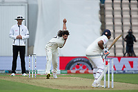 Colin de Granhomme, New Zealand bowls to Rohit Sharma of India during India vs New Zealand, ICC World Test Championship Final Cricket at The Hampshire Bowl on 19th June 2021