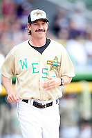 June 24, 2009: Clinton LumberKings manager Scott Steinmann at the 2009 Midwest League All Star Game at Alliant Energy Field in Clinton, IA.  Photo by: Chris Proctor/Four Seam Images