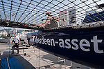 Aberdeen Extreme 40 gets assembled prior to the Hong Kong Around the Island Race on November 07, 2013 at Royal Hong Kong Yacht Club in Hong Kong, China. Photo by Xaume Olleros / The Power of Sport Images