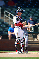Surprise Saguaros catcher Mitch Garver (23), of the Minnesota Twins organization, during a game against the Peoria Javelinas on October 20, 2016 at Surprise Stadium in Surprise, Arizona.  Peoria defeated Surprise 6-4.  (Mike Janes/Four Seam Images)