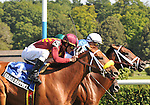8.13.10 Interactif wins in a thrilling three horse blanket finish in the National Racing Museum Hall of Fame Stakes