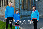 David and Katie Butler with Cathy Flynn from the St Brendan's Athletic Club as they launch their virtual 5k run fundraiser in Ardfert on Monday which will be held from Jan 15th to the 17th.