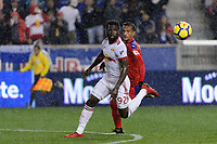 Harrison, NJ - Thursday March 01, 2018: Kemar Lawrence. The New York Red Bulls defeated C.D. Olimpia 2-0 (3-1 on aggregate) during a 2018 CONCACAF Champions League Round of 16 match at Red Bull Arena.
