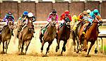 LOUISVILLE, KENTUCKY,  MAY 04: Monomy Girl, #14, ridden by Florent Geroux , wins the Longines Kentucky Oaks on Kentucky Oaks at Churchill Downs on May 4, 2018 in Louisville, Kentucky. ( Photo by Dan Heary/Eclipse Sportswire/Getty Images)