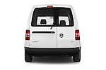 Straight rear view of a 2014 Volkswagen CADDY 1.6 TDI 4 Door Car Van Rear View  stock images