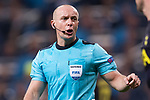 Referee Szymon Marciniak gestures during the UEFA Champions League 2017-18 match between Real Madrid and Tottenham Hotspur FC at Estadio Santiago Bernabeu on 17 October 2017 in Madrid, Spain. Photo by Diego Gonzalez / Power Sport Images