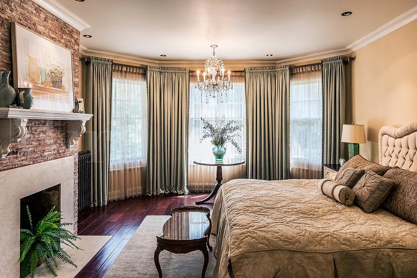 Elegant interior design of a bedroom.