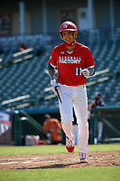 Jordan Lawlar (11) during the Baseball Factory All-Star Classic at Dr. Pepper Ballpark on October 4, 2020 in Frisco, Texas.  Jordan Lawlar (11), a resident of Irving, Texas, attends Jesuit College Preparatory School of Dallas.  (Mike Augustin/Four Seam Images)