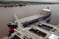 Porto da Cadam.<br /> para embarque  de caulim. Esta localizada nos bancos do Rio Jari, nas borda entre os estado do Pará e Amapá, região norte do Brasil.  As operações foram iniciadas em 1971.<br /> Rio Jarí Pará, Brasil.<br /> Foto Paulo Santos<br /> 2005