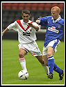 17/8/02               Copyright Pic : James Stewart                     .File Name : stewart-airdrie v stranraer 20.AIRDRIE'S LEE GARDNER AND STRANRAER'S KEVIN GAUGHAN CHALLENGE FOR THE BALL.....James Stewart Photo Agency, 19 Carronlea Drive, Falkirk. FK2 8DN      Vat Reg No. 607 6932 25.Office : +44 (0)1324 570906     .Mobile : + 44 (0)7721 416997.Fax     :  +44 (0)1324 570906.E-mail : jim@jspa.co.uk.If you require further information then contact Jim Stewart on any of the numbers above.........