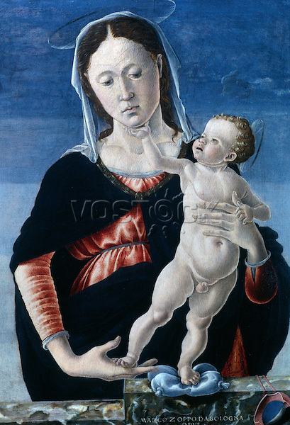 Madonna & Child  ca. 1467-68 Marco Zoppo (1433-1478 Italian) Tempera on wood National Gallery of Art, Washington, D.C., USA