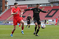 Kyle Jameson of Oldham Athletic and Conor Wilkinson of Leyton Orient during Leyton Orient vs Oldham Athletic, Sky Bet EFL League 2 Football at The Breyer Group Stadium on 27th March 2021