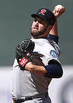 Tacoma Rainiers' Cody Martin pitches against the Reno Aces at Greater Nevada Field in Reno, Nev., on Sunday, Aug. 28, 2016. <br />Photo by Cathleen Allison