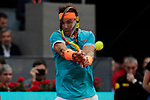 Rafael Nadal during the Mutua Madrid Open Masters match on day six at Caja Magica in Madrid, Spain.May 09, 2019. (ALTERPHOTOS/A. Perez Meca)