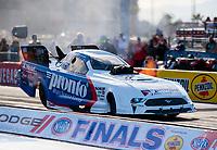 Nov 1, 2020; Las Vegas, Nevada, USA; NHRA funny car driver Blake Alexander during the NHRA Finals at The Strip at Las Vegas Motor Speedway. Mandatory Credit: Mark J. Rebilas-USA TODAY Sports