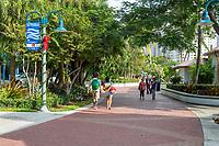 Ft. Lauderdale, Florida.  New River Riverwalk.