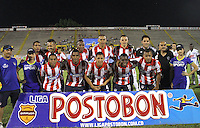 NEIVA -COLOMBIA-25-01-2014. Formacion del Atletico Junior. Accion de juego entre el  Atletico Huila  contra  el  Atletico Junior durante partido por la fecha 1 de la Liga Postobón I 2014 jugado en el estadio Guillermo Plazas Alcid   de la ciudad de Neiva./ Atletico Junior Team. Action game between players Atletico Huila and  Atletico Junior during match  1 League Postobón 2014 I played in Guillermp Plazas Alcid  Stadium city of Neiva. Photo: VizzorImage / Felipe Caicedo / Staff